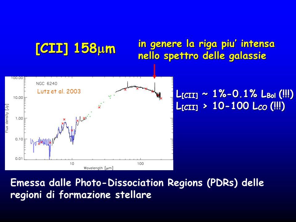 [CII] 158mm in genere la riga piu' intensa